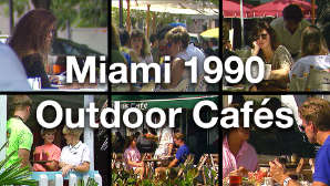 Public Domain Stock Footage Vintage Miami 1990s Outdoor Cafes