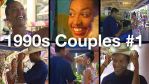 Public Domain Stock Footage 1990s Couples #1 - Young Black Couple Dating in Miami