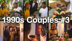 Public Domain Stock Footage 1990s Couples #3 - Young Black Couple Dating in Miami
