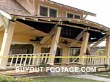 Damaged House Northridge Earthquake Tragedies And Natural Disasters Films Movies public domain films archive stock footage