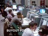 Mission Control Reactions NASA Space Shuttle Challenger Disaster stock footage