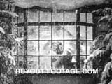 Window Decorations Merry Christmas public domain films archive stock footage