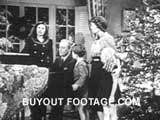 Family carols Merry Christmas public domain films archive stock footage
