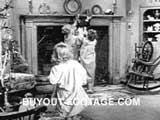 Children Opening Presents The Night Before Christmas public domain films archive stock footage